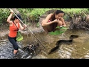 LIVE: Top 5 Primitive Technology Fishing Big Fish And Cooking