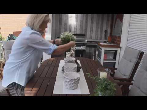 TerrasseGarten Gartentisch ein bisschen mediterran - Bärbel´s Wohn Deko Ideen