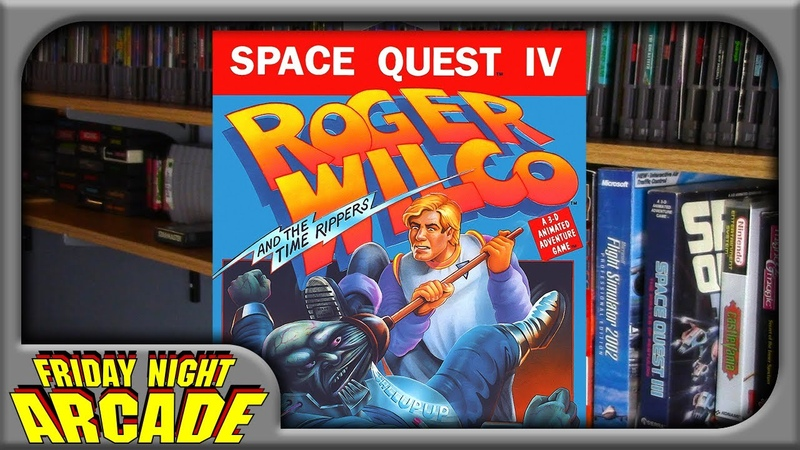 Space Quest IV Roger Wilco the Time Rippers - MS-DOS Game Review | Friday Night Arcade