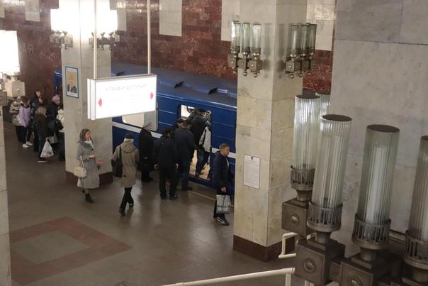 Пассажиры станции «Московская»