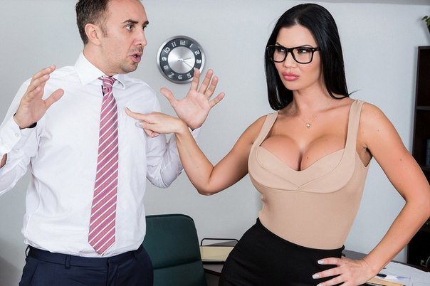 Buxom brunette secretary Jasmine Jae letting large tits loose at work № 403366 без смс