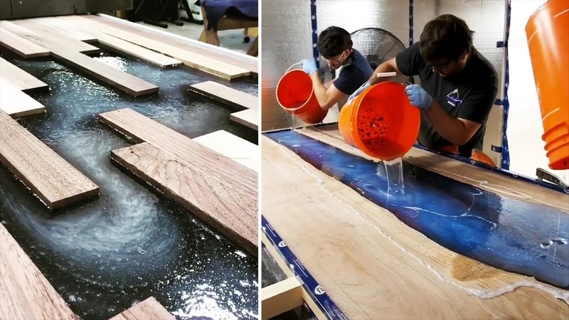 10 MOST Amazing Epoxy Resin and Wood River Table Designs DIY Woodworking Projects and Plans