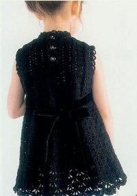 Стильное платье для девочки крючком (3 фото) - картинка
