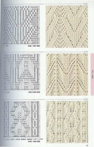 вязание спицы схема ажур