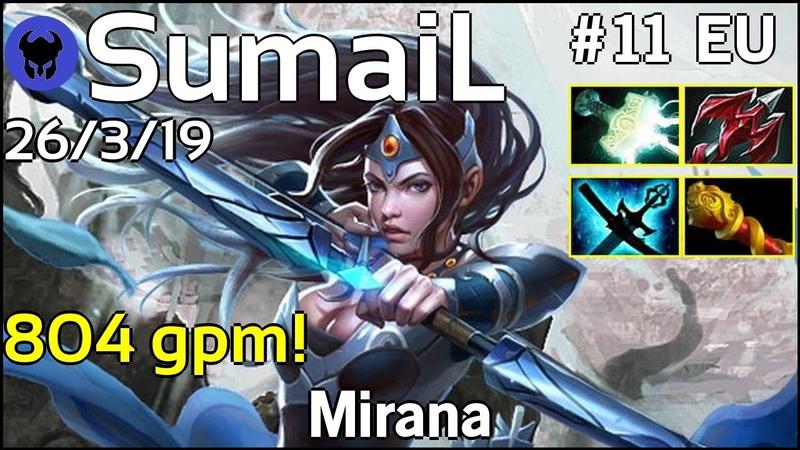 804 gpm! SumaiL [EG] plays Mirana Dota 2 7.21