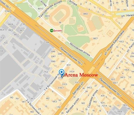 moscow клуб схема проезда