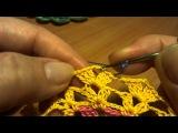 Салфетка, подставка - Видео урок вязания крючком