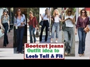 Bootcut Jeans Makes you taller and Slim Bootcut Jeans Outfit Idea Bootcut jeans Lookbook
