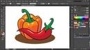 Adobe Illustrator - T32 - jak narysować papryczki - how to draw peppers