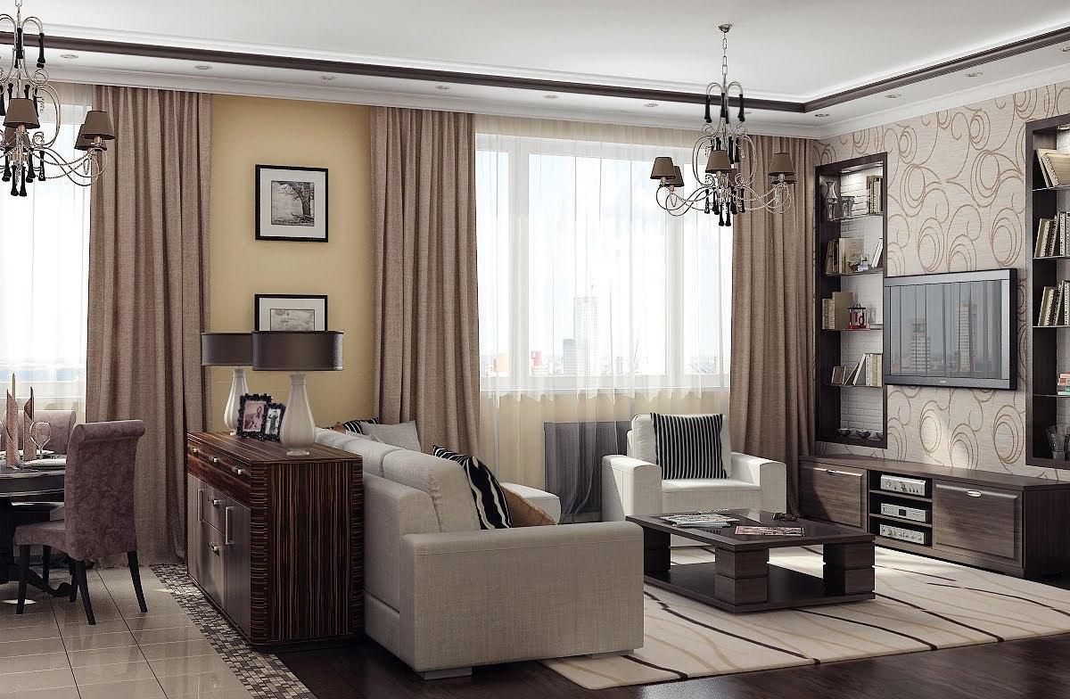 Интерьер комнаты зал фото