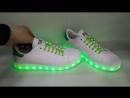 Кроссовки Adidas Stan Smith белые со светящейся подошвой