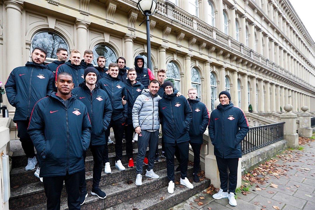 «Спартак» провел тренировку в Глазго и вернулся в Москву