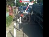 Авария на железнодорожном переезде в Кузьмолово