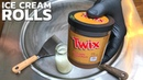 TWIX Ice Cream Rolls how to make Ice Cream with TWIX Recipe Chocolate Caramel Ice Cream ASMR