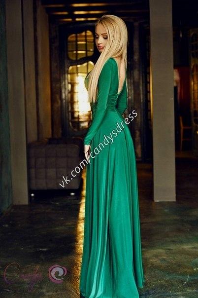 Длинные платья зелёного цвета