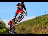Opposites Attract: Brendan Fairclough and Nino Schurter ride the EWS final in Finale Ligure, Italy.