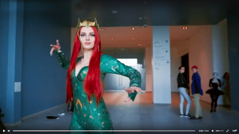 Королева Мера Старкон 2018 nimfiell cosplay queen mera dc comics