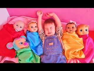 Are you sleeping brother John & Five Little Babies Jumping On The Bed Song for Kids