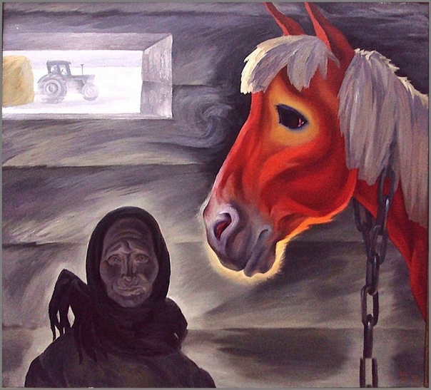 Картина«Последний конь», 1977 год.