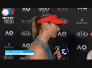 Maria Sharapova | Interview | Australian Open 1R