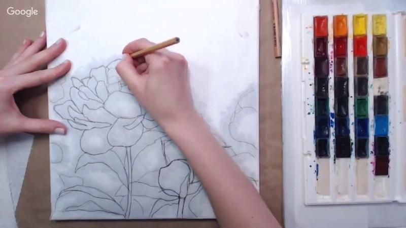 Как перевести рисунок на лист или холст