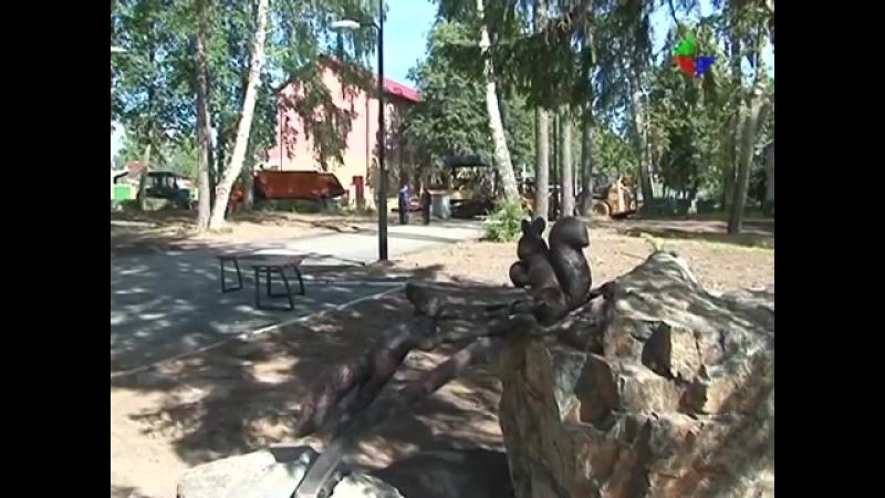 В сквере имени Гагарина завершаются работы по программе «Формирование комфортной