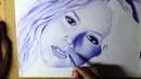 Ballpoint Pen Portrait Dibujo a Bolígrafo Desenho Realista com Caneta