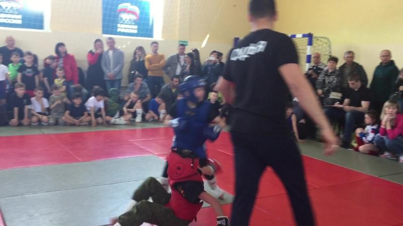 1 бой(1 раунд) ушу-саньда