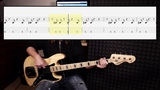 Michael Jackson - Beat It (bass cover with tabs in video)