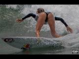 Alana Blanchard Surfing in Bikini Bottoms! ! Sexy Alana Blanchard @ Vans US Open Huntington Beach!