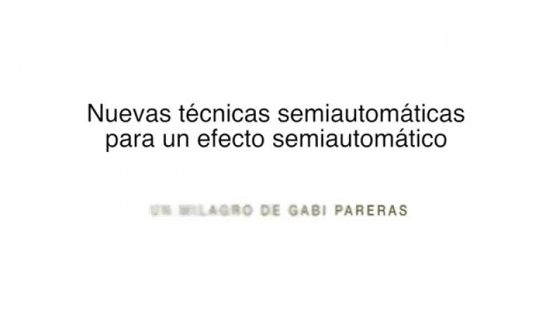 Gabi Pareras - Agua y aceite impromptu