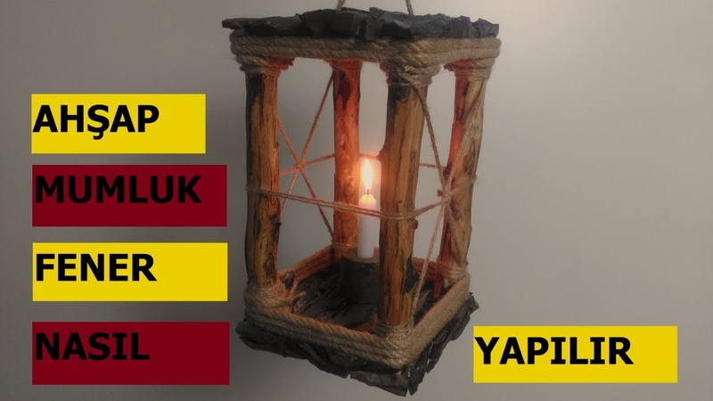 AHŞAP FENER MUMLUK wooden candle holder