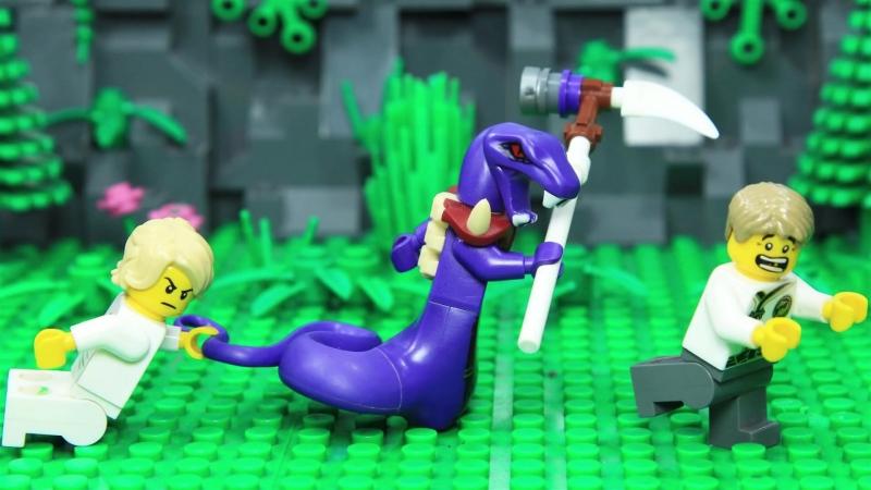 Lego NinjaGo Garmadon vs Pythor