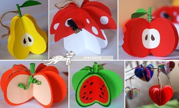 Поделки в детский сад овощи