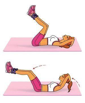 Эффективный комплекс упражнений для ног, ягодиц и пресса!… (5 фото) - картинка