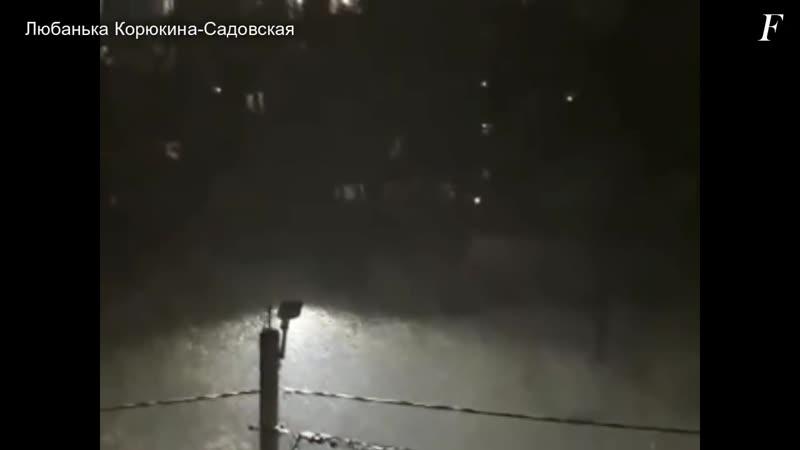 Thundersnow in Ivanovo (Russia, November 22, 2018)