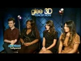 Glee 3D Movie Press Junket - Chris, Amber, Lea, Jenna