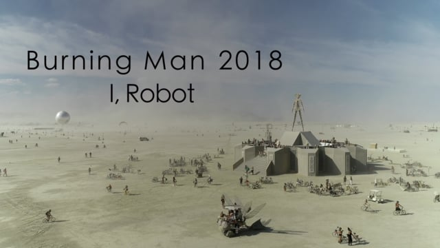Burning Man 2018 - aerial view - 4k