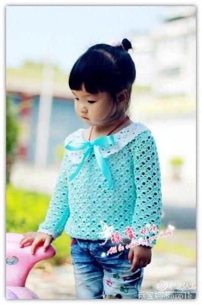 Кофточка с воротником на девочку крючком, схема… (4 фото) - картинка