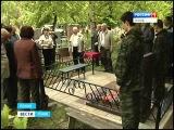 Возложили цветы на могилу Героя ВОВ в Пскове