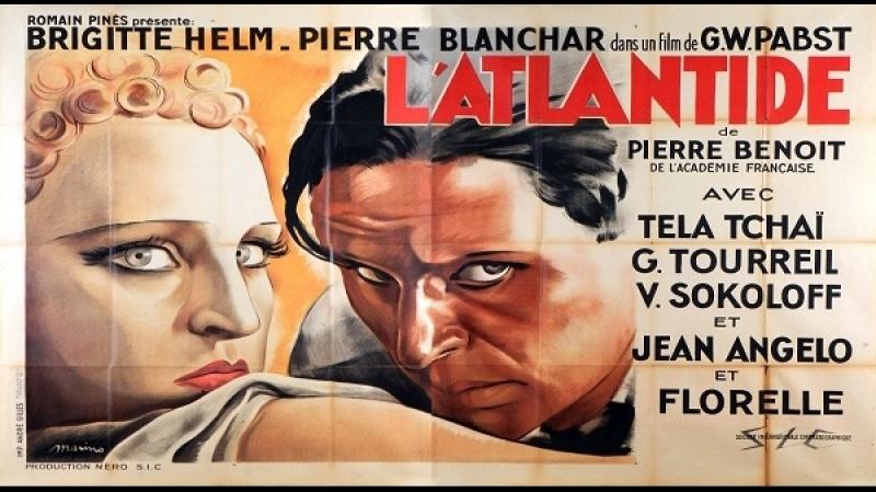 1932 G. W. Pabst -LAtlantide- Brigitte Helm, Pierre Blanchar, Tela Tchaï