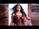 Портрет женщины в доспехах карандашами / Timelapse Vá Wonder Woman