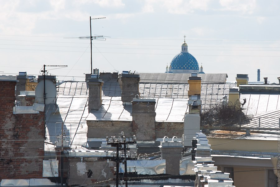 Прогулки по крыше в Санкт-Петербурге Троицкий собор