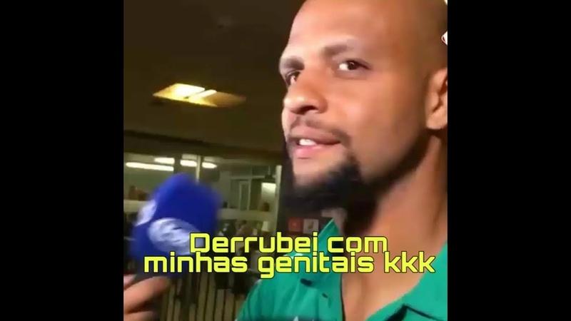 Felipe Melo diz que derrubou o adversário com as Genitais! Palmeiras x melgar