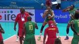 12-09-2018 #barivolley2018 - La danza dei leoni del Camerun dopo la vittoria all'esordio mondiale