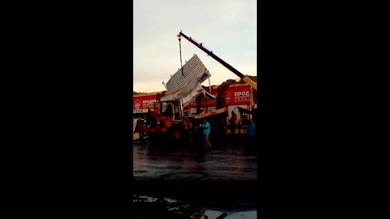 Ураган в городе Барабинск