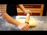Рецепт - Яблочный пирог из  дрожжевого слоеного теста от http---videoculinary.ru