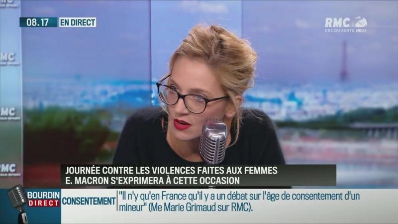 Une avocate veut que Macron parle de la pédophilie présente en politique ( RMC, 13/11/2017, 8h16)