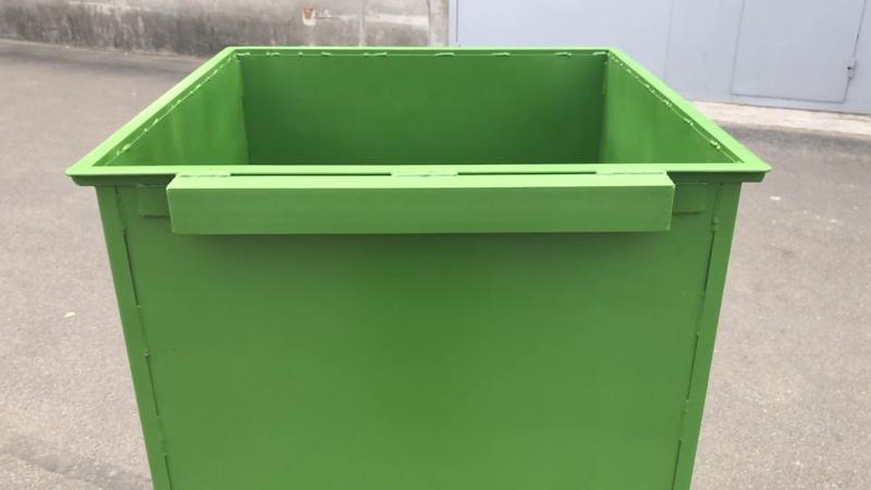 Контейнер 0 75м3 квадратный зеленый без крышки