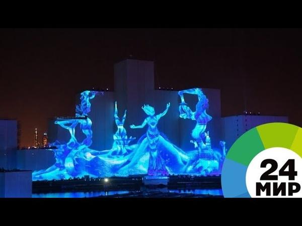 Лазеры фонтаны и огонь шоу Круг света претендует на два рекорда Гиннесса МИР 24